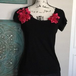 Super Cute Floral WHBM Top